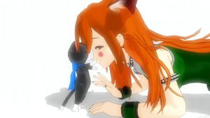Kitty lick to nose by KingdomHeartsNickey