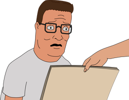 Distraught Hank Hill by GlitchMaster7