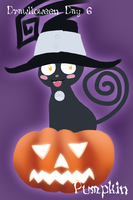 Blair, Pumpkin Witch Cat by northstar2x