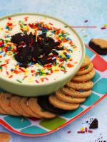 Cake Batter Oreo Cheesecake Dip by theresahelmer