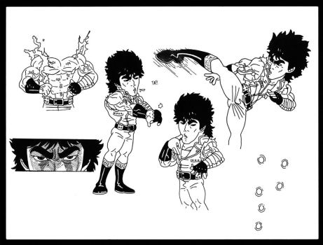 Early Kenshiro Study by BLaKcatINK