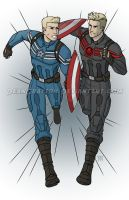 Commission - Captain America Vs Captain Hydra by DeanGrayson