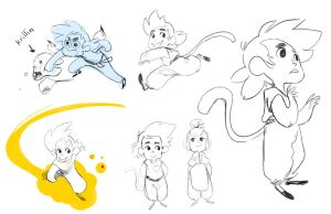 dragon ball sketches by atofu