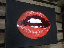 kiss canvas by knickknackkid