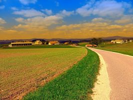 A road, a village and summer season II by patrickjobst