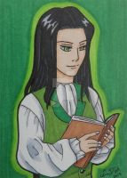 Louis de Pointe du Lac ACEO card by LadyNin-Chan