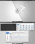 Arch KDE Black and White by CraazyT