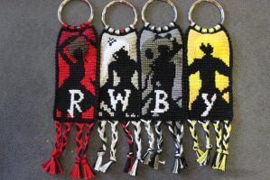 RWBY Keychains by Bookworm1994