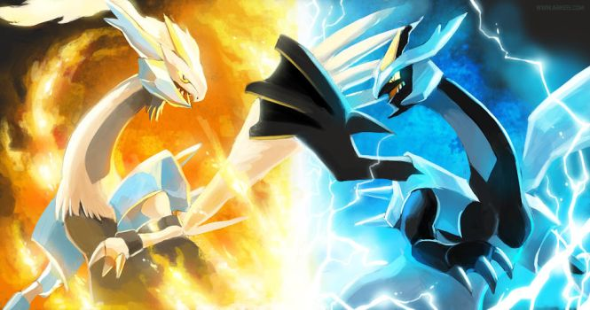 Kyurem Black and White by arkeis-pokemon