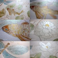 close ups of silver lotus painting by GeaAusten