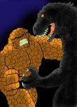 Godzilla vs The Thing by Koku-chan
