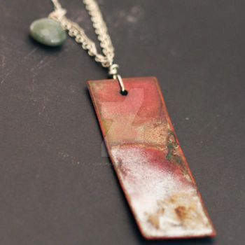 Raku Tile Necklace by xodropdeadox