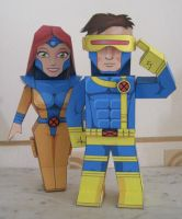 Cyclops + Jean Grey :Jim Lee by xavierleo