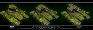Halo Wars UNSC Scorpion by saizarod
