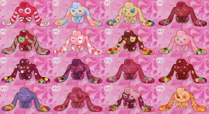 Candy Bunny Adoptables Batch 7 OPEN! by BrotherlyFluff