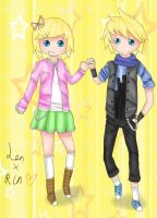 Len and Rin~ by flashsteps