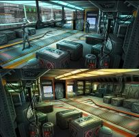 Ship Cargo Bay Concepts by cgfelker