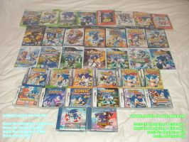 My Sonic Game Collection 2012 by EUAN-THE-ECHIDHOG