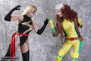 Ms Marvel vs Rogue by EccentricCasey
