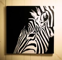 Zebra painting by Acacia13