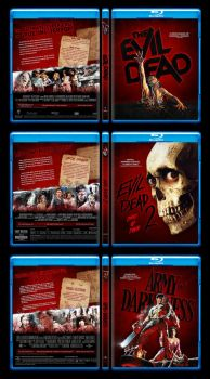 Evil Dead Trilogy Custom Blu-ray Covers by themadbutcher