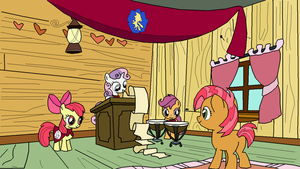Cutie Mark Crusaders Inviting Babs Redrawn by JSJosh