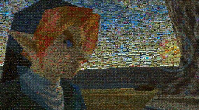 Ocarina of Time Link mosaic by cozmicone