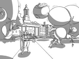 the inflatrix on campus by shydude