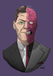 Two-Face of Arkham by MangleDangle