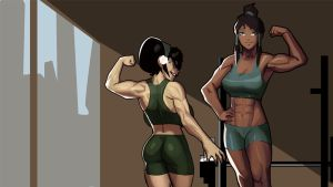 Korra and Toph Flex Contest by morganagod