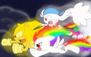 Super Sonic, Dashie, Klo :contest: by SonicSketch