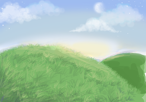 Grassy Hills WIP HELP by collie-rado
