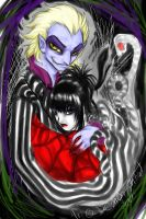 BeetleJuice and Lydia by DemonTainted