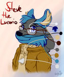 Steve Bust Shot Color Reference by Steve-the-Lucario