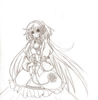 Rose princess Kobato uncolored by Fara4X3