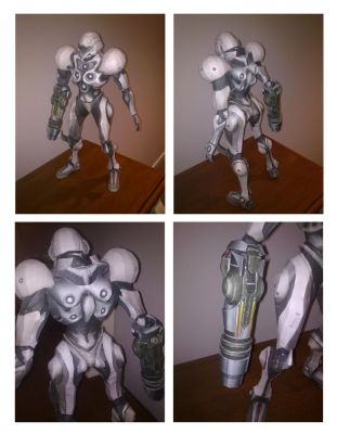 Samus: Metroid Prime 2 Lightsuit Papercraft by bratchny