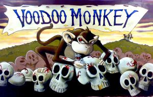 voodoo monkey by malarkyarts