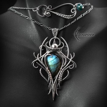 XEQUARL - Silver, Labradorite and Agate. by LUNARIEEN