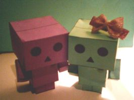 Danbo couple by LeRosaVare