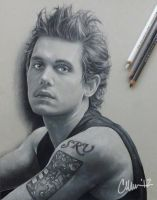 John Mayer Drawing by Live4ArtInLA