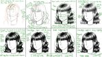 Manga hair tutorial - black and white by starca