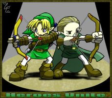 Link and Legolas team up by apocalypsethen