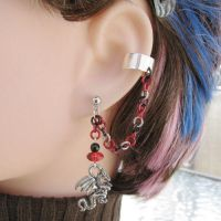 Dragon's Fireball Ear Cuff by merigreenleaf