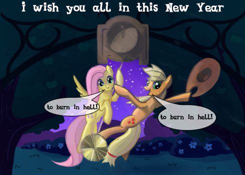 New Year postcard by kiriALL