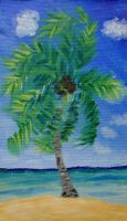 Palm Tree Painting by slipsk8r