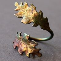 Autumn Leaves Statement Ring by Brillville
