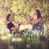 Singin' with dandelions.. by Khomenko