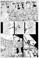 TMNT Animated book # 2 page 5 inks. by DarioBrizuelaArtwork