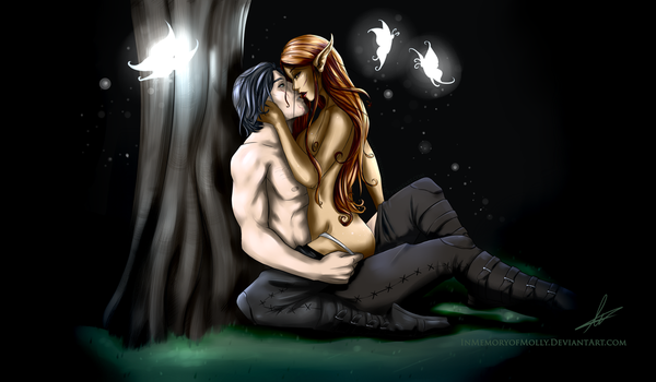 Amidst the Glow of the Lunar Moth [C] by KittehMei