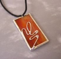 Stained Glass Pendant by DivinityDesigns
